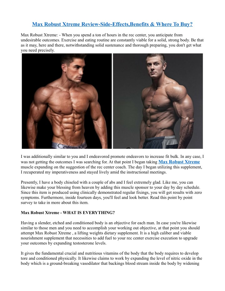 max robust xtreme review side effects benefits n.