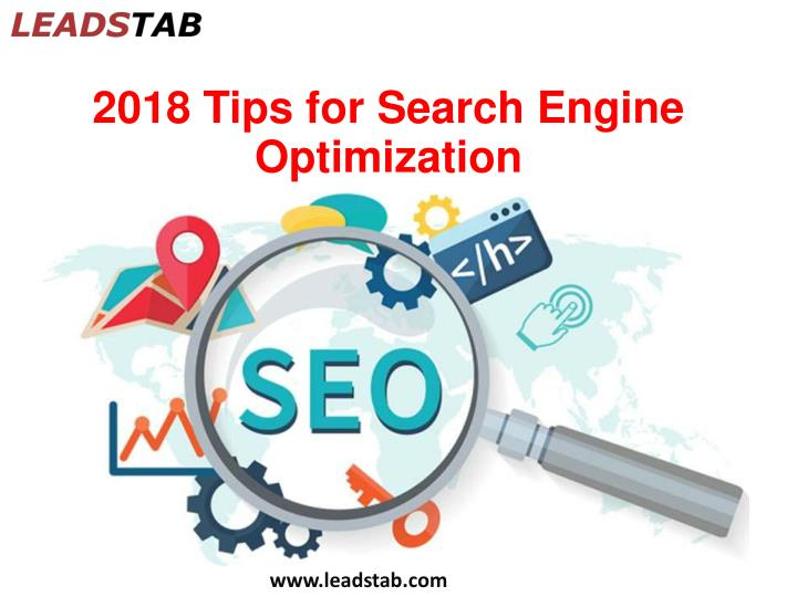 2018 tips for search engine optimization n.