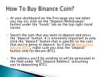 how to buy binance coin