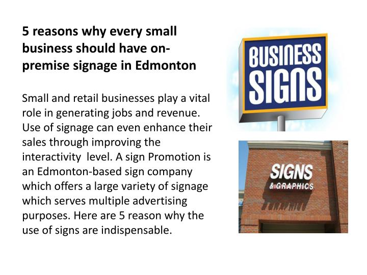 5 reasons why every small business should have on premise signage in edmonton n.