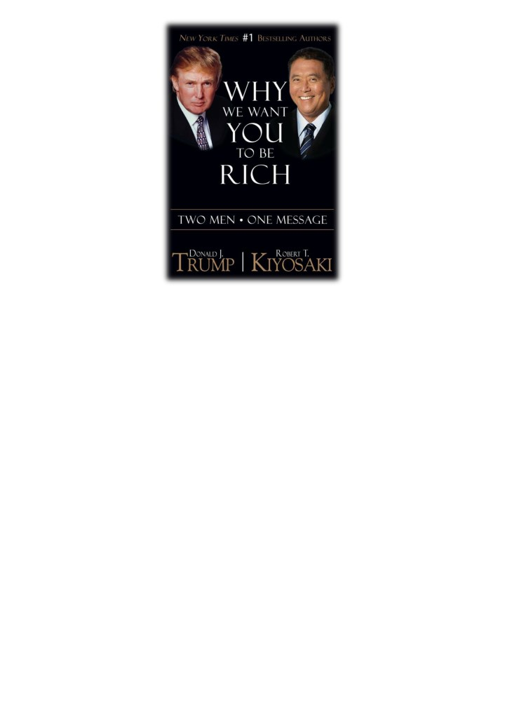 Ppt Pdf Free Download Why We Want You To Be Rich By Donald Trump