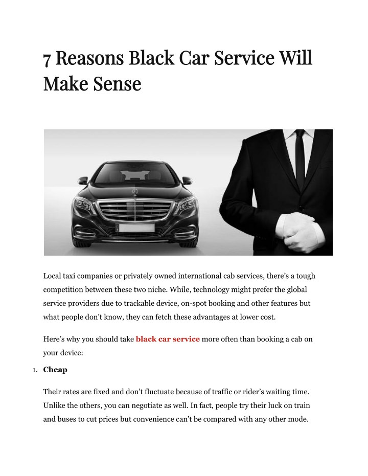 7 reasons black car service will 7 reasons black n.