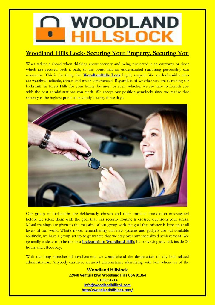 woodland hills lock securing your property n.