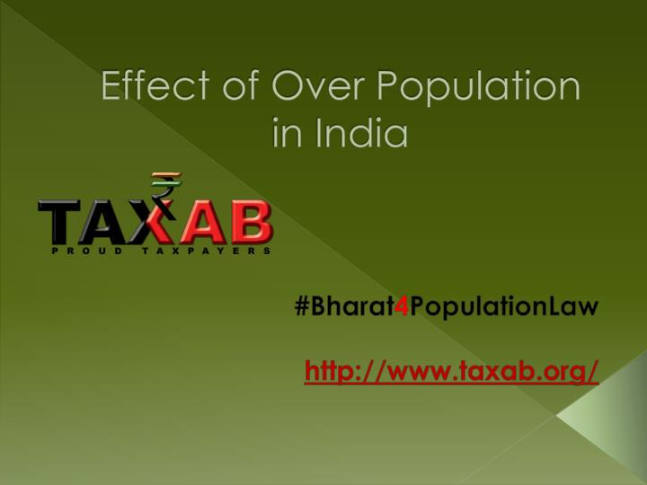 effect of over population in india n.
