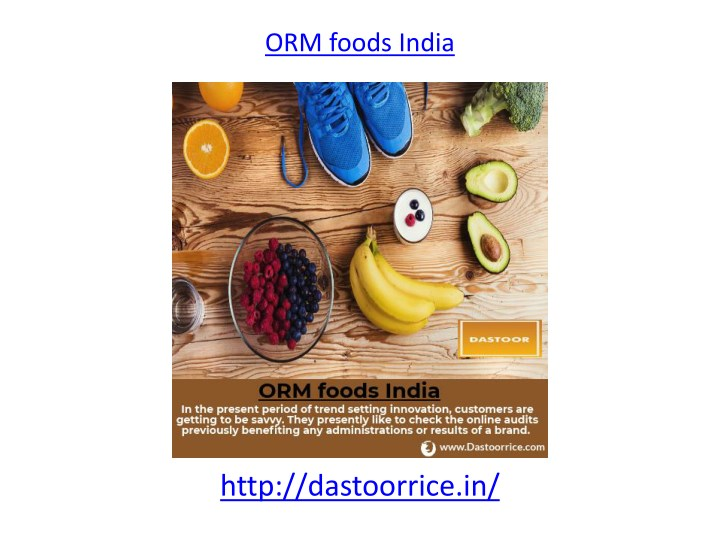 orm foods india n.