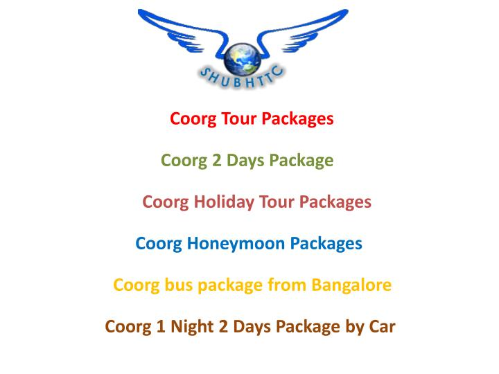 coorg tour packages n.