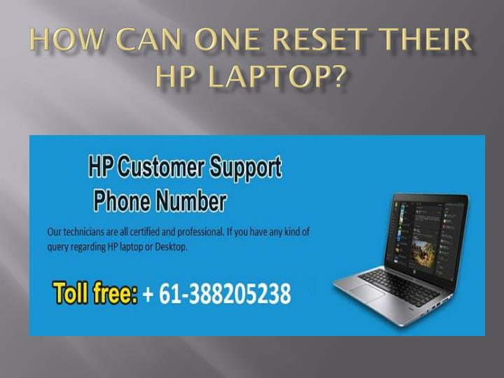 how can one reset their hp laptop n.