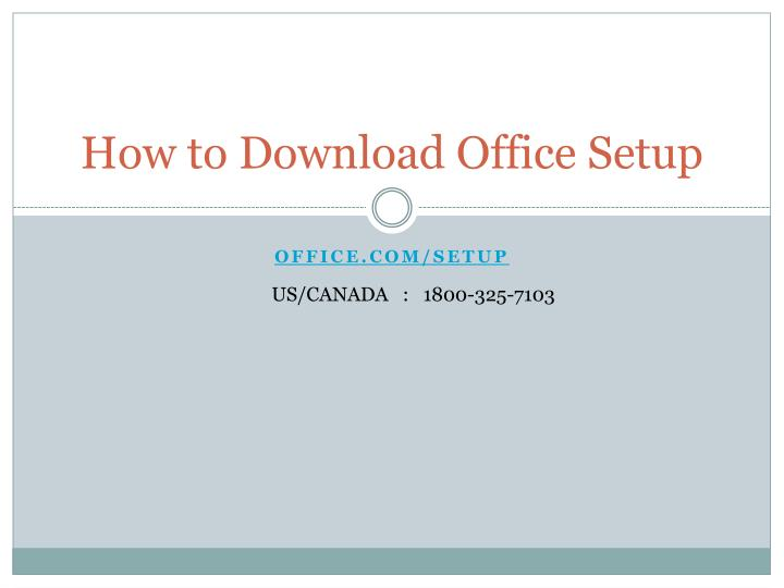 how to download office setup n.