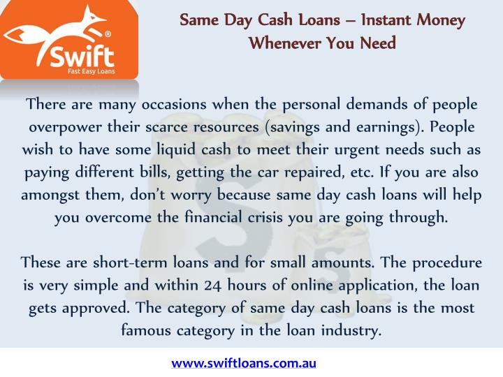 same day cash loans instant money whenever n.