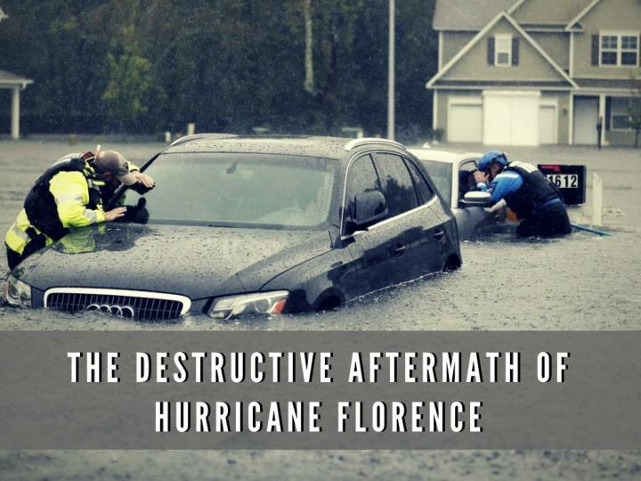 the destructive aftermath of hurricane florence n.