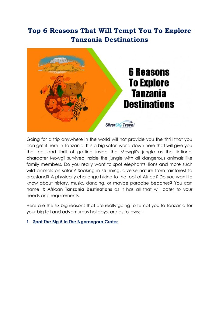 top 6 reasons that will tempt you to explore n.