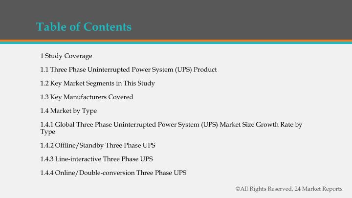 PPT - Three Phase Uninterrupted Power System (UPS) Market