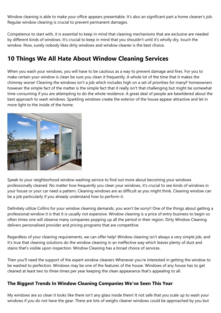 window cleaning is able to make your office n.