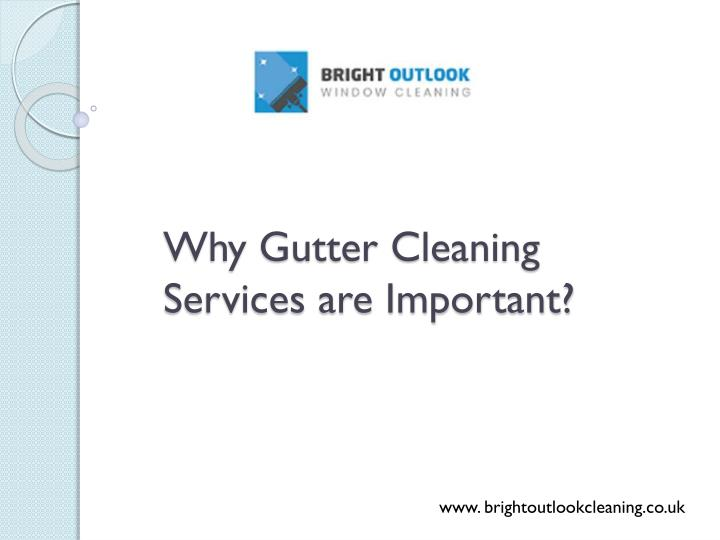 why gutter cleaning services are important n.