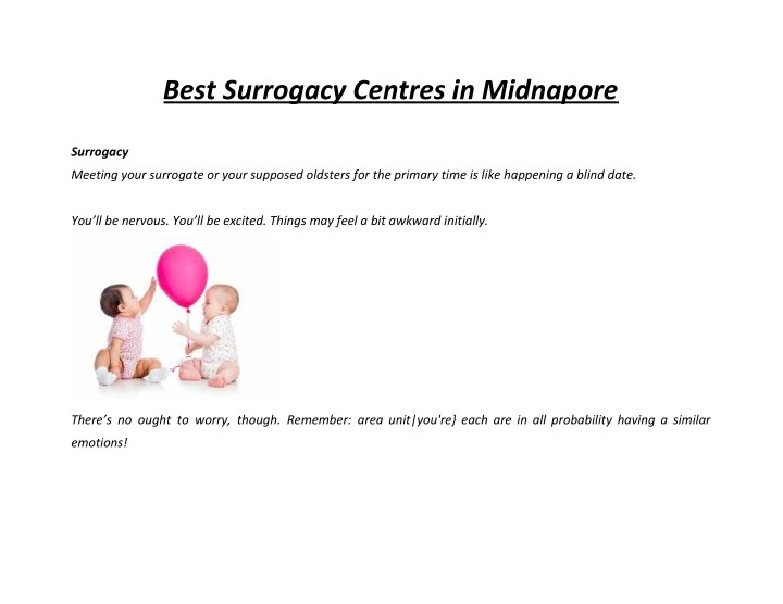 best surrogacy centres in midnapore n.