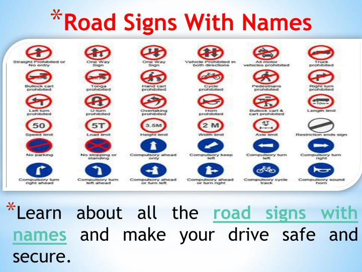 PPT - Road Signs In India – Learn About Road Signs Chart And Drive