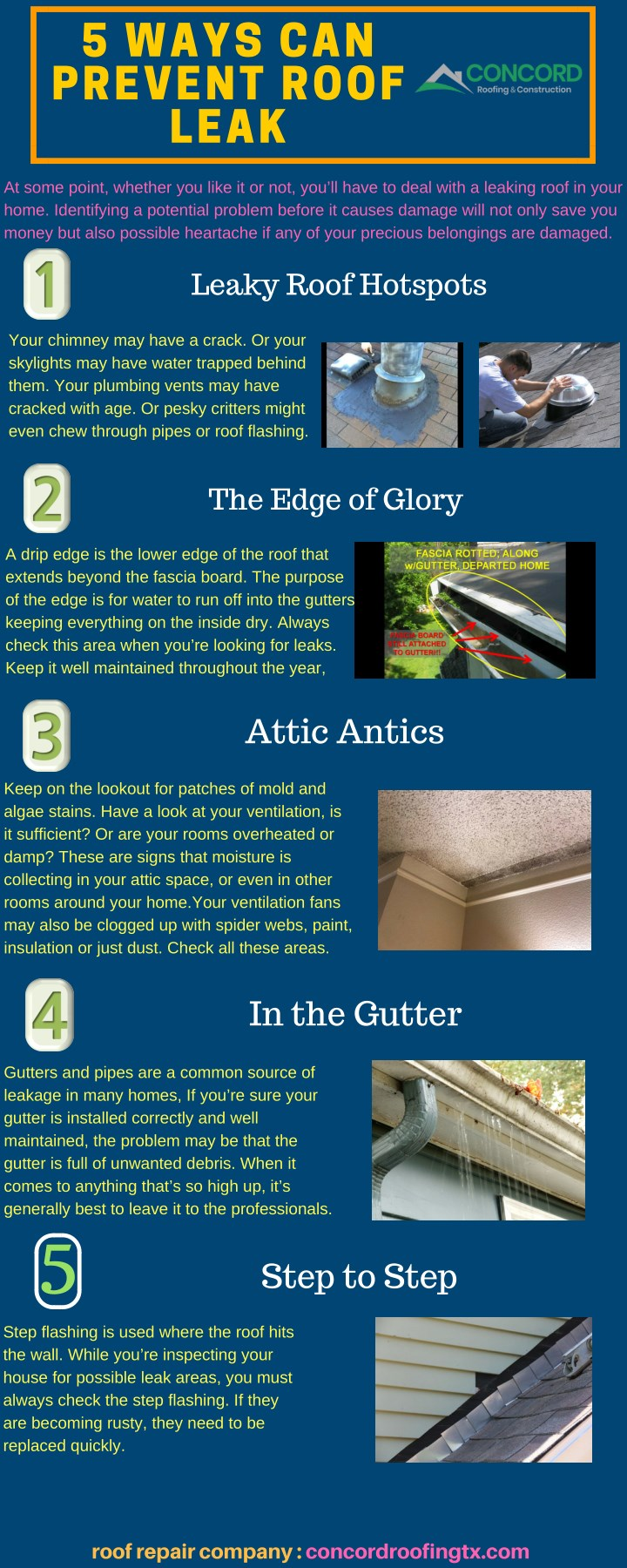 5 ways can prevent roof leak n.