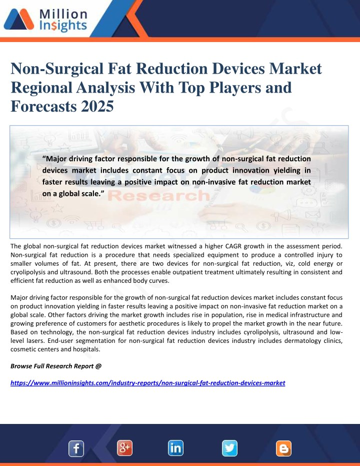 non surgical fat reduction devices market n.