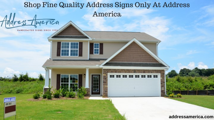 shop fine quality address signs only at address n.