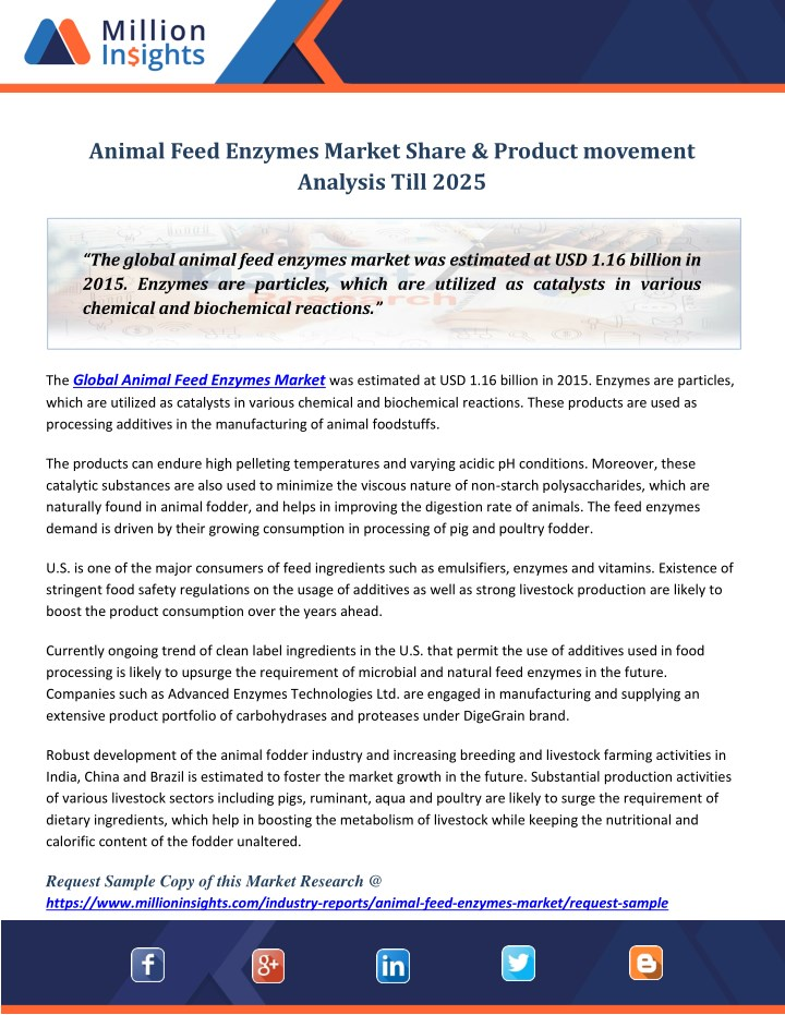 animal feed enzymes market share product movement n.