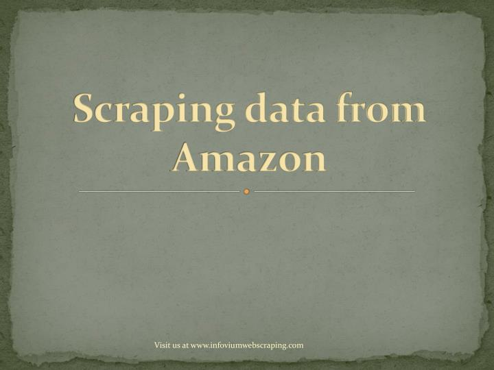 scraping data from amazon n.
