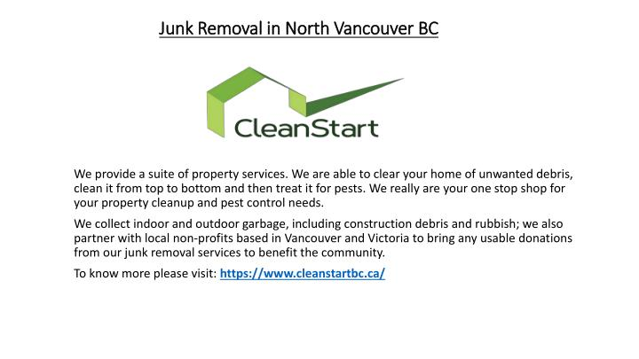 junk removal in north vancouver bc n.