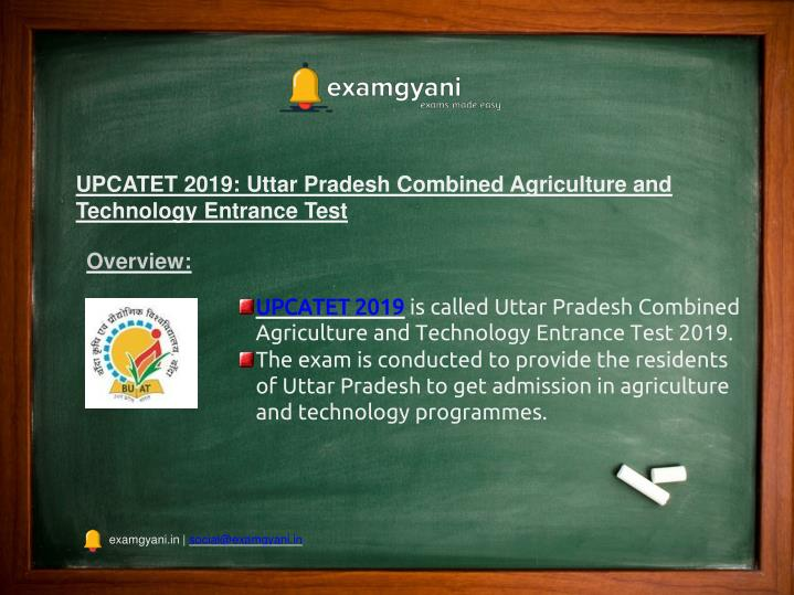 upcatet 2019 uttar pradesh combined agriculture n.