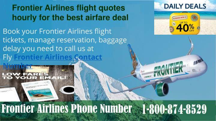 frontier airlines flight quotes hourly n.