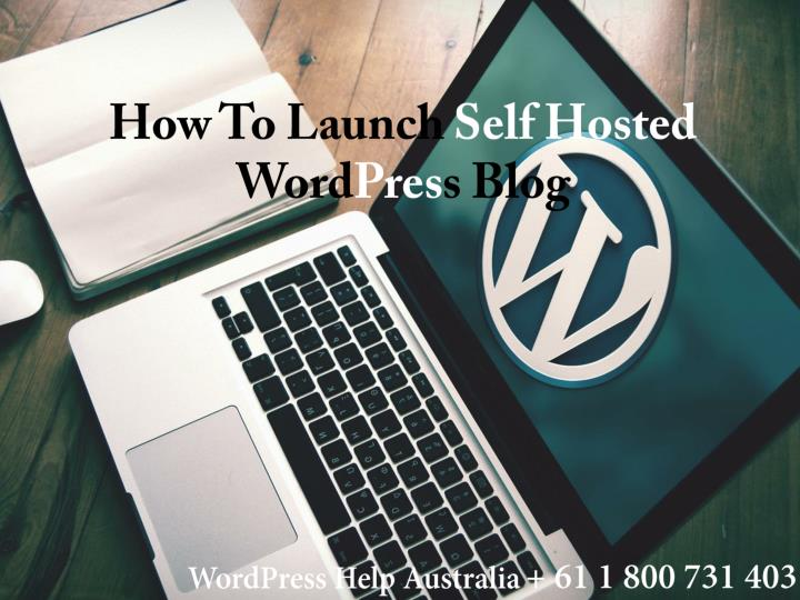 how to launch self hosted word pres s blog n.