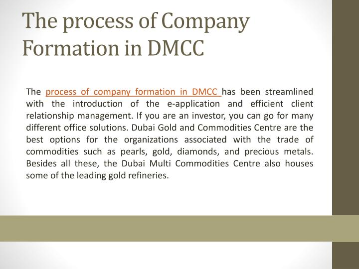 PPT - Essential Information about Company Formation in DMCC