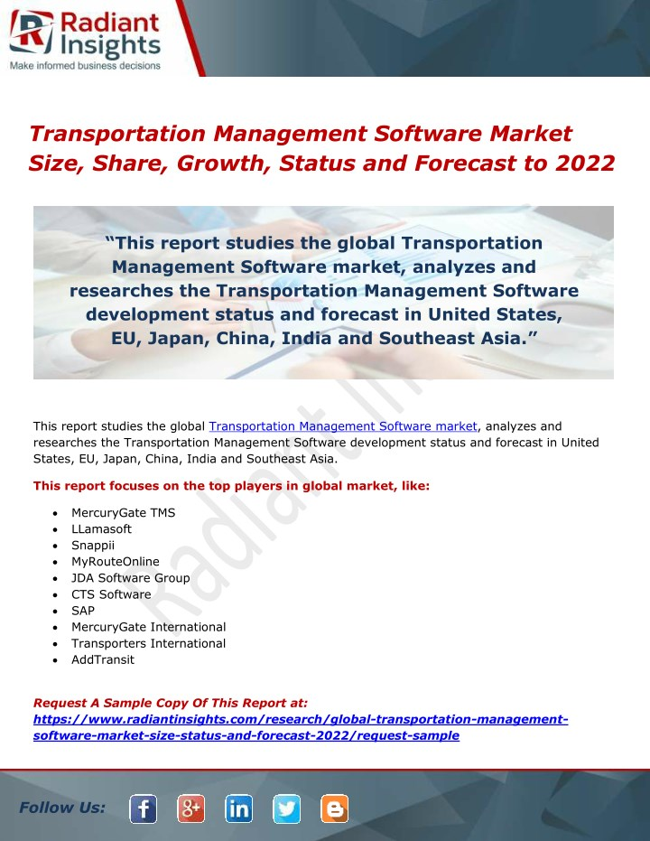 transportation management software market size n.