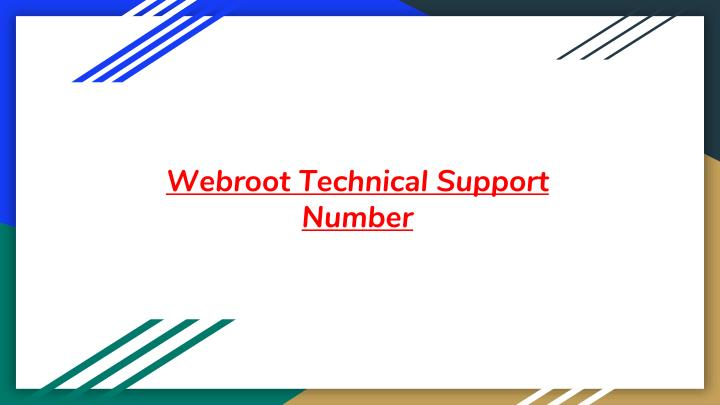 webroot technical support number n.