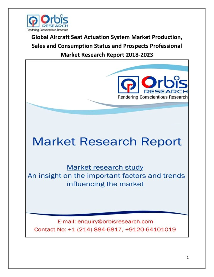 global aircraft seat actuation system market n.