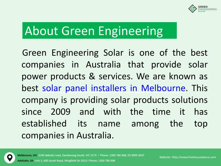 PPT - Commercial solar panels Adelaide – Green Engineering