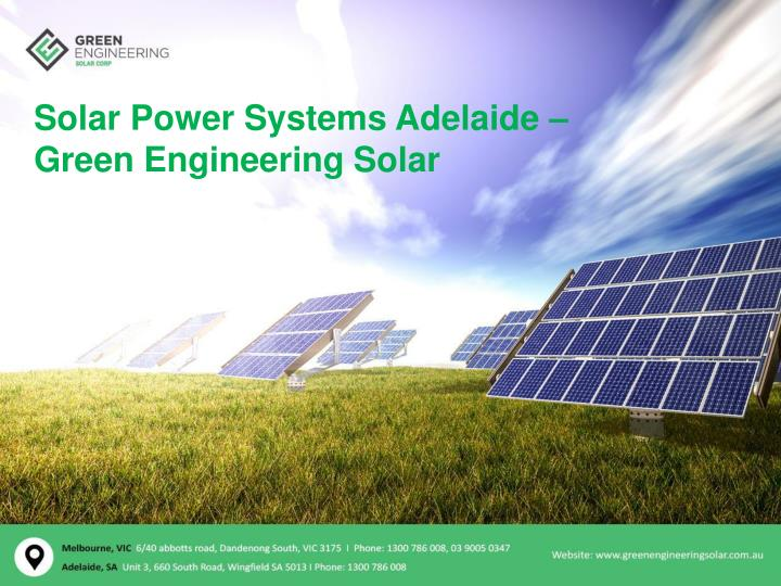solar power systems adelaide green engineering n.