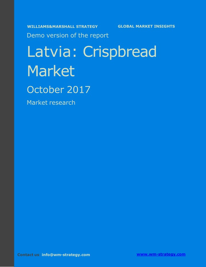 demo version latvia crispbread market september n.