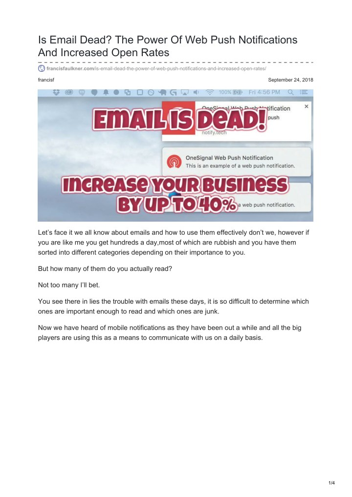 is email dead the power of web push notifications n.
