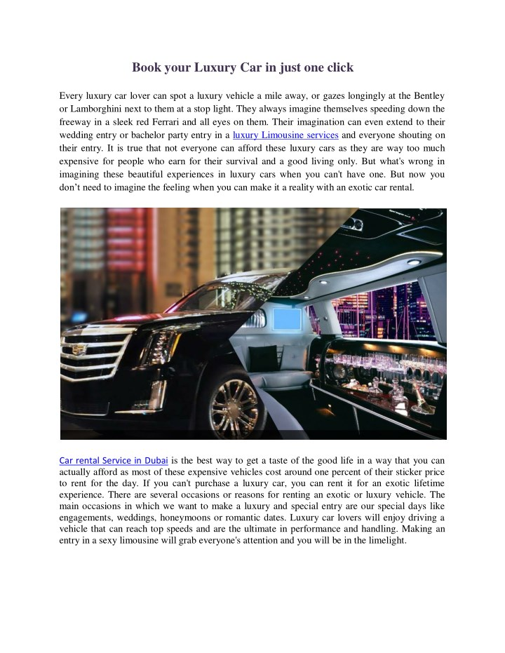 book your luxury car in just one click every n.