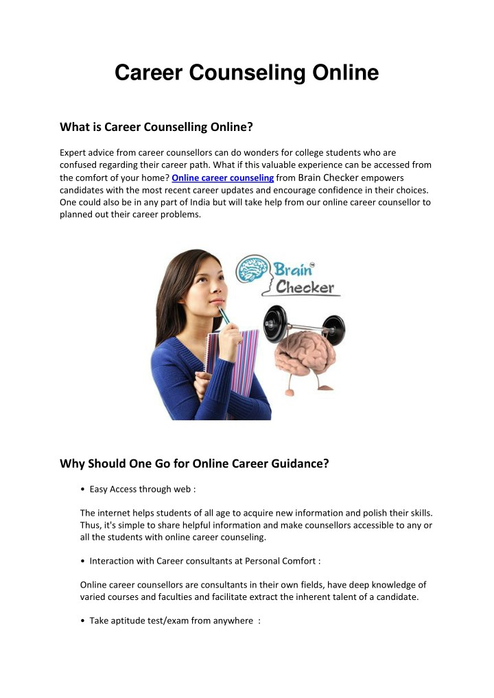 Ppt Career Counseling Online Powerpoint Presentation Free Download Id 8022167