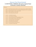 itinerary tour wisata komodo 6 destinasi terbaik