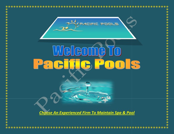 choose an experienced firm to maintain spa pool n.