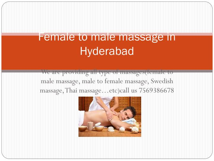 female to male massage in hyderabad n.