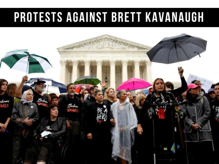 protests against brett kavanaugh n.