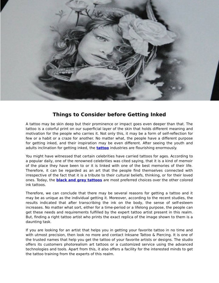things to consider before getting inked n.
