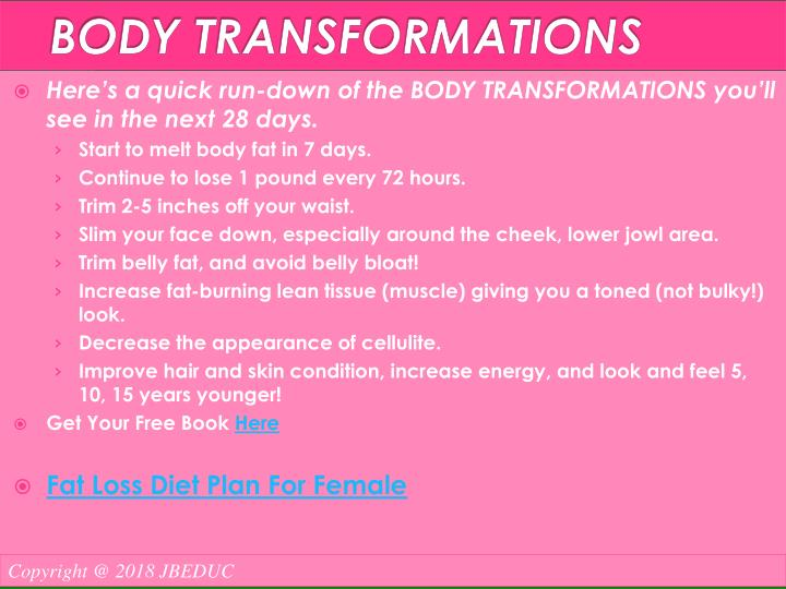 Ppt Fat Loss Diet Plan For Female Powerpoint Presentation Id 8023294
