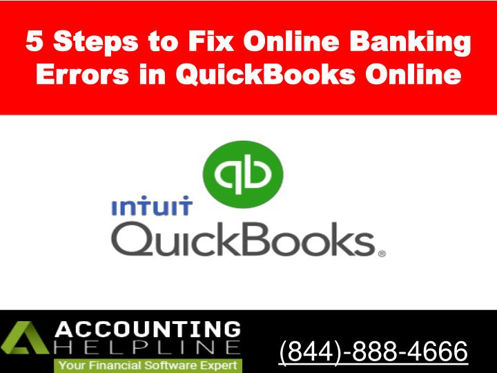 5 steps to fix o nline b anking e rrors in quickbooks online n.