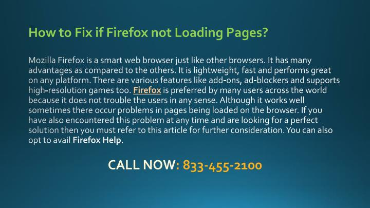 how to fix if firefox not loading pages mozilla n.