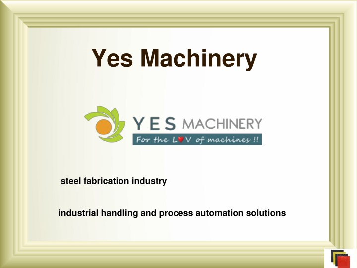yes machinery n.
