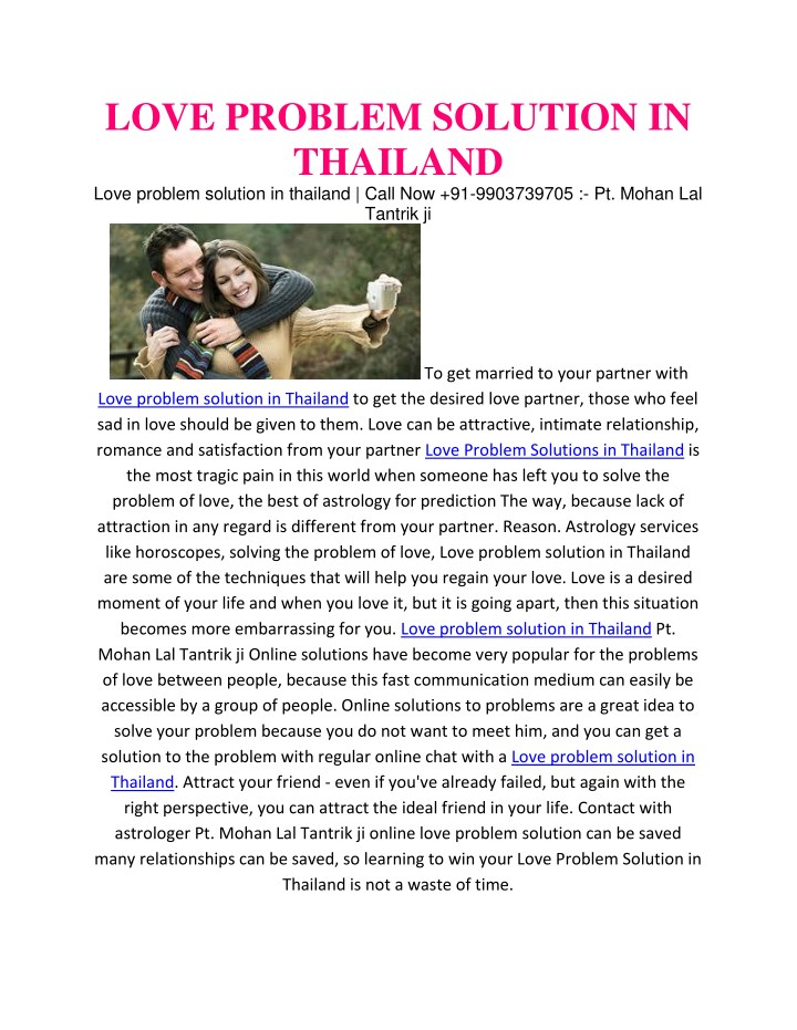 love problem solution in thailand love problem n.