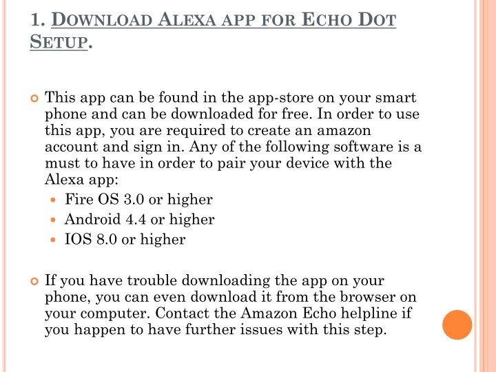 PPT - How to download Alexa app for Amazon Echo Dot setup